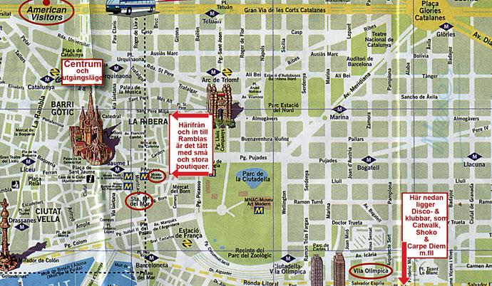 Karta Over Sevardheter I Barcelona.Frontface Magazine Barcelona Sightseeing Genom En Kameralins Sid
